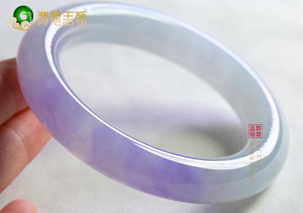 【紫罗兰玉镯】冰种紫罗兰翡翠手镯价格影响因素